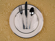 Elegant dinner setting Stock Images