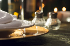 Elegant Dinner Setting Stock Photography