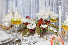Elegant dinner table 3 Stock Photos