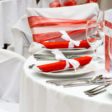 Elegant dinner table Royalty Free Stock Images