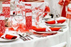 Elegant dinner table Royalty Free Stock Image