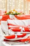 Elegant dinner table Royalty Free Stock Photos