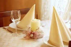 Elegant dinner table wedding restaurant Stock Image