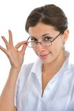 Elegant doctor girl with glasses Stock Photography