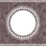 Elegant doily on lace background Royalty Free Stock Photography