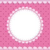 Elegant doily on lace gentle background Royalty Free Stock Image