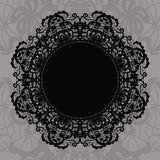Elegant doily on lace gentle background Stock Image