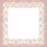 Elegant doily on lace gentle background Stock Photos