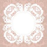 Elegant doily on lace gentle background Stock Photography