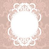 Elegant doily on lace gentle background Royalty Free Stock Photos