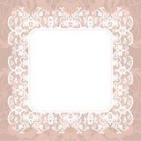 Elegant doily on lace gentle background Royalty Free Stock Photography