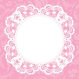 Elegant doily on lace gentle background Stock Photo