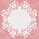 Elegant doily on lace gentle background Stock Photography