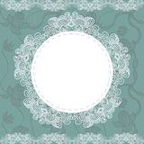 Elegant doily on lace gentle background Royalty Free Stock Photo