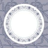 Elegant doily on lace gentle background Stock Image