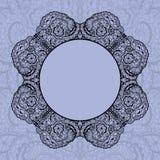 Elegant doily on lace gentle background Stock Photo
