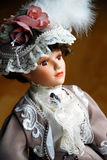 Elegant Doll Closeup Stock Photography