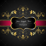 Elegant, donker, gouden-ontworpen etiket Royalty-vrije Stock Fotografie