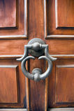 Elegant door and door knocker. Elegant door and knocker Tuscany Italy Stock Image