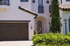 Elegant doorway in expensive home. Beautiful doorway in Upscale home royalty free stock photo