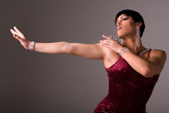 Elegant drag queen. Royalty Free Stock Photo