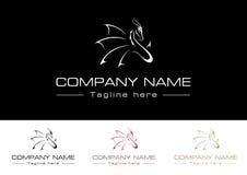 Elegant Dragon Logo royalty free illustration