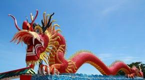 Elegant Dragon. The Elegant Dragon on the sky Royalty Free Stock Photo
