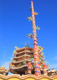 The Elegant Dragon. On the sky at chinese temple in Thailand Stock Image