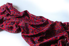 Elegant draped cloth. Violet fabric texture background. Royalty Free Stock Photos