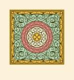 Elegant drapery tile design, floral elements Royalty Free Stock Photos