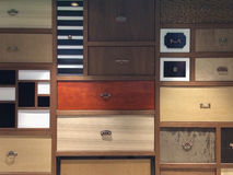 Elegant drawers. In a tea shop in Xiamen city, southeast China Royalty Free Stock Images