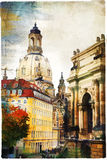 Elegant Dresden - artwork in painting style. Beautiful Dresden, artistic picture in painting style Royalty Free Stock Photography