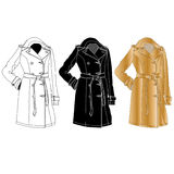 Elegant dress. Female`s clothes. Vector Royalty Free Stock Images