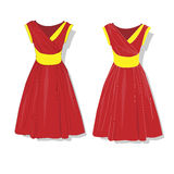 Elegant dress. Female`s clothes. Stock Photo