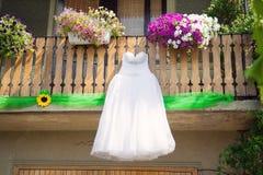 Elegant Dress in Yard Stock Image