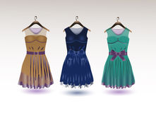 Elegant dresses stock images