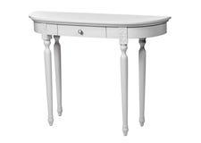 Elegant dressing table isolated over white Stock Photos