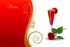 Elegant drink menu. stock illustration