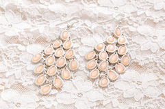 Elegant earring Royalty Free Stock Photography