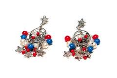 Elegant earrings from sliver Royalty Free Stock Photo