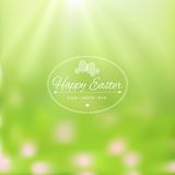 Elegant Easter card on blurred background. Royalty Free Stock Photos