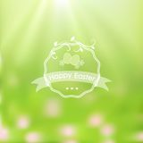 Elegant Easter card on blurred background. Royalty Free Stock Photography