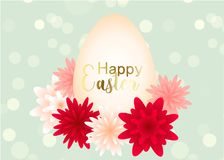 Elegant Easter day greeting card design with flowers. Elegant Easter day greeting card design with blossoms flowers Royalty Free Stock Photography