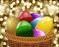 Elegant Easter eggs Stock Image