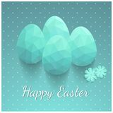 Elegant Easter greeting card Royalty Free Stock Image