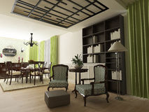 Elegant eclectic house interior Stock Photos