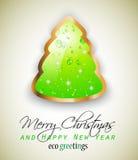 Elegant Eco Green Christmas tree Royalty Free Stock Image