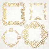 Elegant elements for frame design in Eastern style. Royalty Free Stock Images