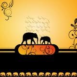 Elegant elephant background Stock Photo