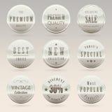 Elegant emblem- och etikettuppsättning Arkivfoton